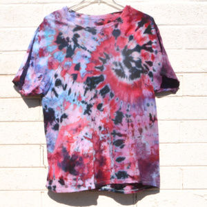 Red White Blue Fireworks Tie Dye 2XL Unisex Shirt
